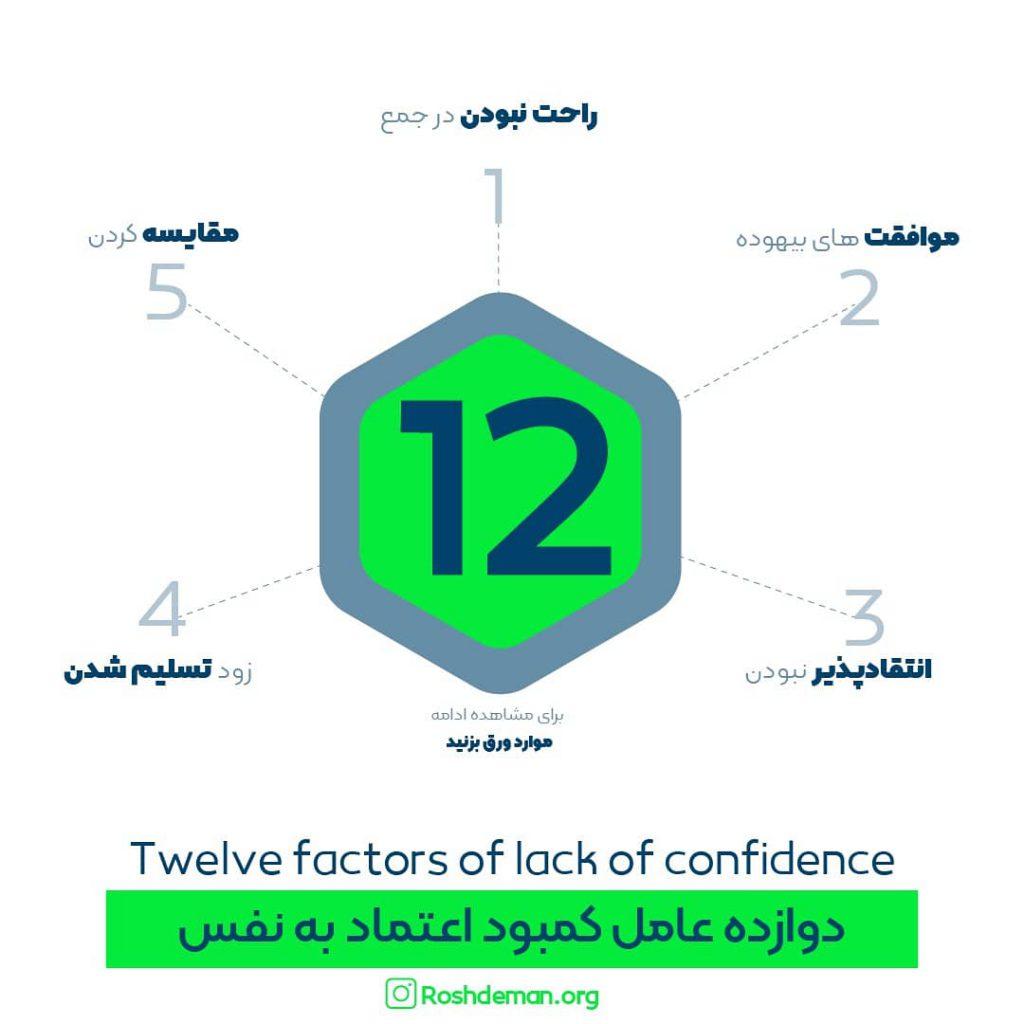 12 عامل کمبود اعتماد بنفس